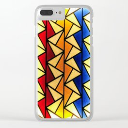 Stained Glass Light Art No.03 Geometric Design Clear iPhone Case