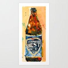 Milwaukee Best Ice Beer  - Miller Ice Art Print