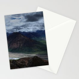 Panoramic Alaskan Mountain Landscape Stationery Cards