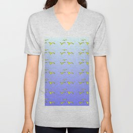 Birds in the blue sky 1-bird,sky,hope,feathers,jaws,eggs,aves,wing Unisex V-Neck