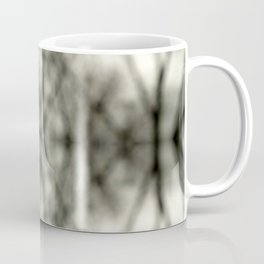Abstract Branch Mood- Black & White Tie Dye - Natural Neutral Coffee Mug