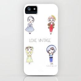 Love Vintage iPhone Case