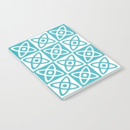 Mid Century Modern Atomic Check 140 Turquoise Notebook