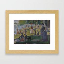 Georges Seurat - A Sunday on La Grande Jatte Framed Art Print