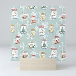Christmas Jars Mint Mini Art Print
