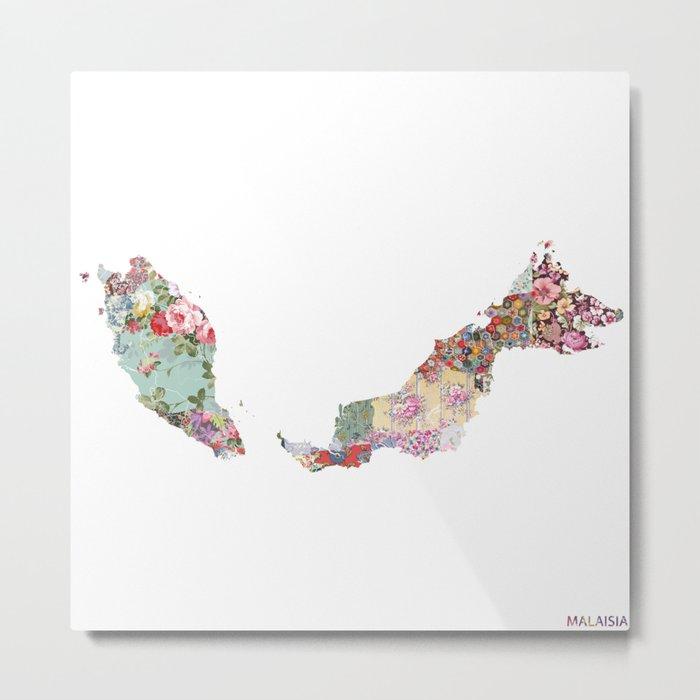 Malaisia map Metal Print
