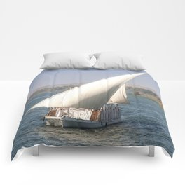 Nile Cruising Comforters