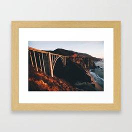 Sunburnt Bixby Bridge - Big Sur, California Framed Art Print