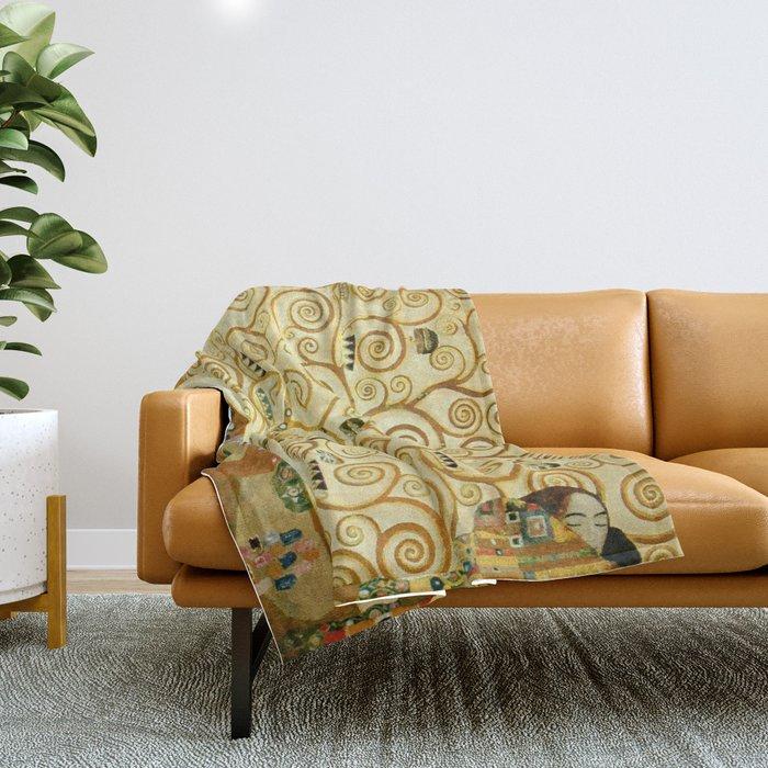 Gustav Klimt The Tree Of Life Throw Blanket