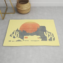 Trail of the dusty road Rug