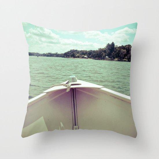 Sometime This Life, I'm Going to Sail Away Throw Pillow