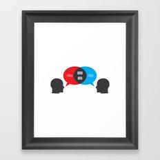 Idea+Idea=Good Idea Framed Art Print