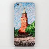 finland iPhone & iPod Skins featuring Turku Cathedral, Finland by Alan Hogan