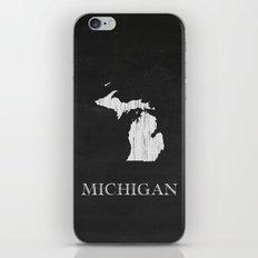 Michigan State Map Chalk Drawing iPhone & iPod Skin