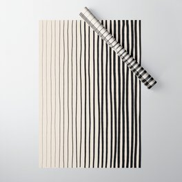 Black Vertical Lines Wrapping Paper