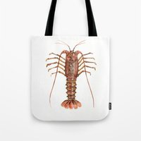 lobster Tote Bags featuring Lobster by Anastasiya Zhulina
