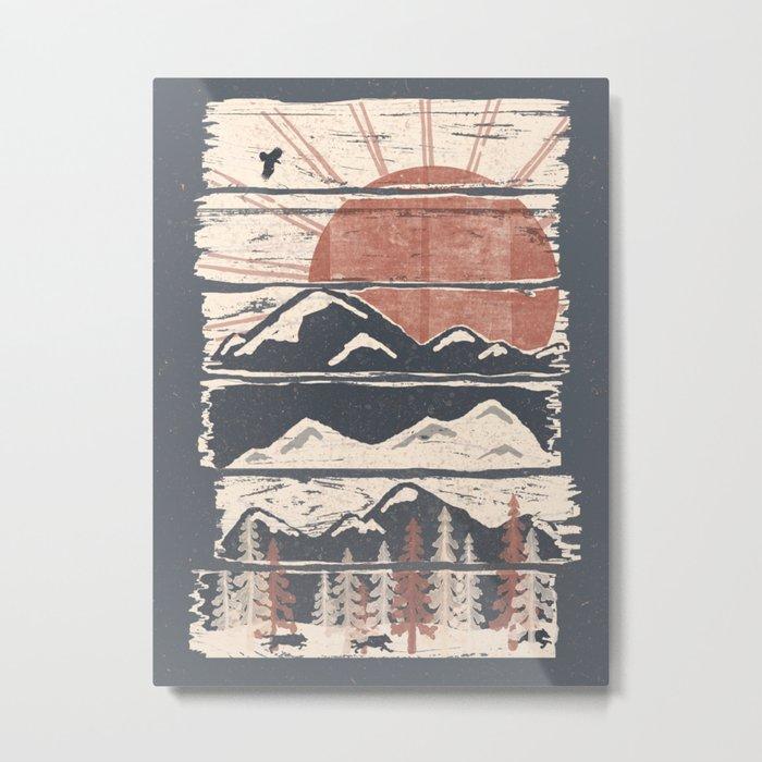 Winter Pursuits... Metal Print