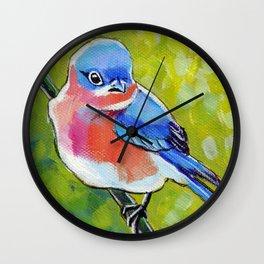 Itty Bitty Bluebird Wall Clock