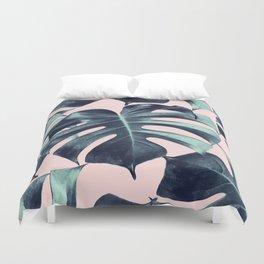Tropical Monstera Leaves Dream #3 #tropical #decor #art #society6 Duvet Cover