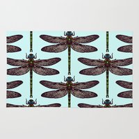 dragonfly Area & Throw Rugs featuring dragonfly by Sharon Turner