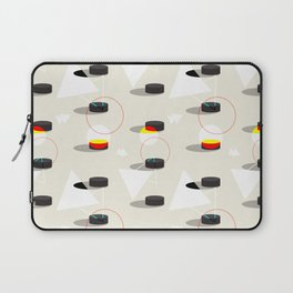 Pucks & Geometries #society6 #hockey #sport Laptop Sleeve