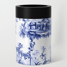 Blue Chinoiserie Toile Can Cooler
