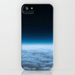 Clear Blue Space iPhone Case