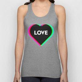 CMYK in RGB Love Heart Unisex Tank Top