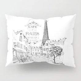 Cafe Paris Pillow Sham