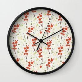 Fresh Fruits Pattern Wall Clock