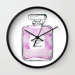 Purple Parfum Wall Clock