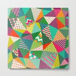Patch Work Pattern. Metal Print