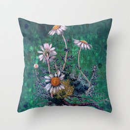 Roman Chamomile Throw Pillow