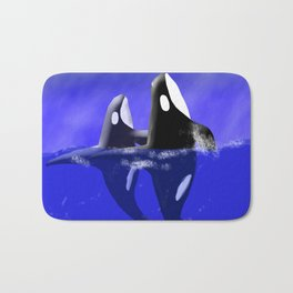Spy Hop Orca Whales Bath Mat
