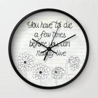 bukowski Wall Clocks featuring Bukowski by Larissa