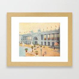 Colonnade at 1893 World's Fair in Chicago Framed Art Print