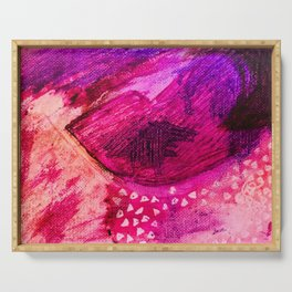 Pink Abstract lips Serving Tray