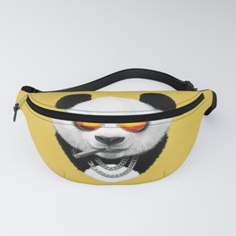 Summer Smoking Panda Fanny Pack