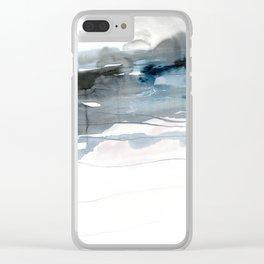 dissolving blues 2 Clear iPhone Case