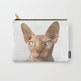 Sphynx cat portrait Carry-All Pouch