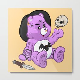 Spooky Bear Metal Print