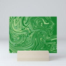 Green pastel abstract marble Mini Art Print