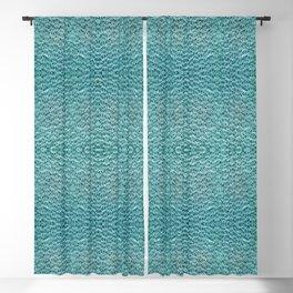 Aqua Beaded Lace Blackout Curtain