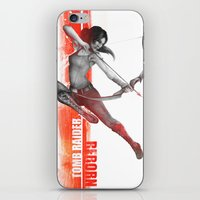 tomb raider iPhone & iPod Skins featuring Tomb Raider Reborn by Sublayer