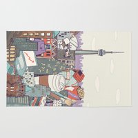 toronto Area & Throw Rugs featuring Toronto by Ashley Ross