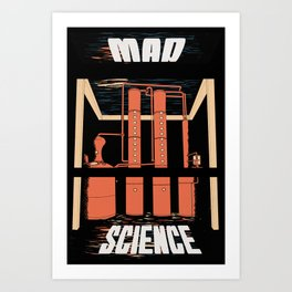 Mad Science Art Print