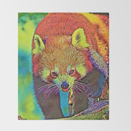 AnimalColor_RedPanda_002_by_JAMColors Throw Blanket