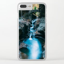 Chasing Waterfalls Clear iPhone Case
