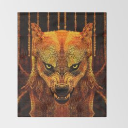 Canis Lupus I Throw Blanket
