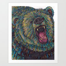 GRRR-IZZLY Art Print